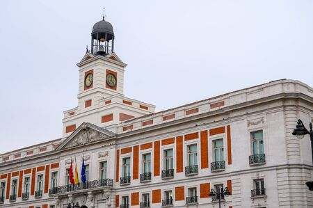 ld post building today headquarters of the community government at the Puerta del Sol 写真素材