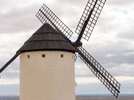 old windmills in Spain that served inspiration for Cervantes in the book Don Quijote