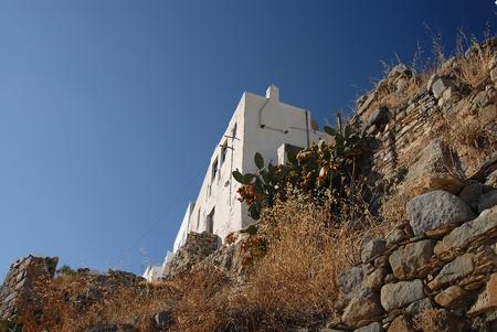 cycladic: Casa con particolare architettura delle Cicladi in Serifos Archivio Fotografico