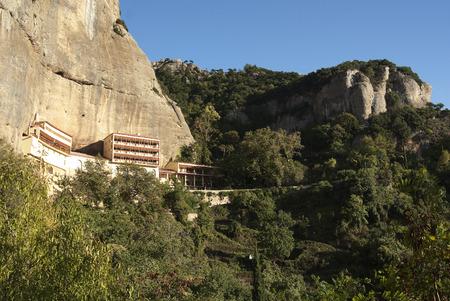 monasteri: Mega Spilaio; uno dei maggior parte dei monasteri storici della Grecia a Kalavryta.