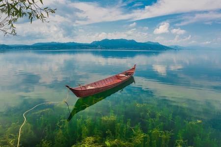 Yunnan Yuxi Fuxian Lake scenery Banco de Imagens