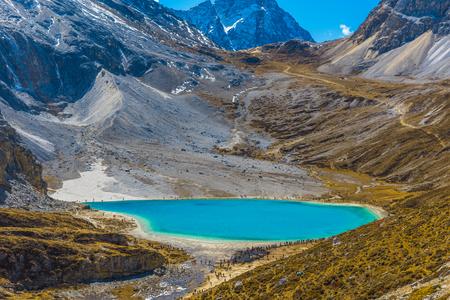 Sichuan Daocheng Yading Milk lake 版權商用圖片
