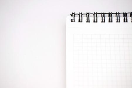 Notebook, notepad, paper, plaid, white, keyboard, notebook, notepad Standard-Bild