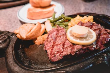 Okinawa steak closeup photo