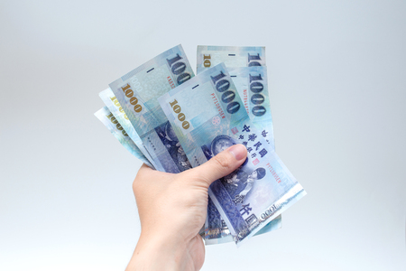 Cash, Taiwan currency,NTD, money, Taiwan Coin, Taiwan money Stock Photo
