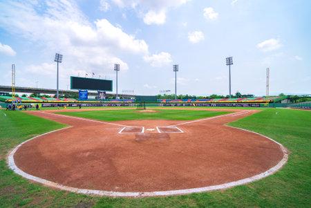 Taichung, Taiwan - Apr 14 2018 in Taichung, Taiwan. Taichung Intercontinental Baseball Stadium Editorial