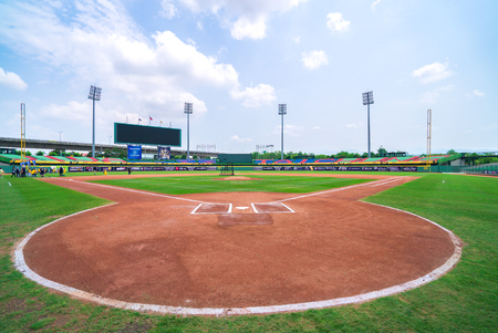 Taichung, Taiwan - Apr 14 2018 in Taichung, Taiwan. Taichung Intercontinental Baseball Stadium Banque d'images - 99368703