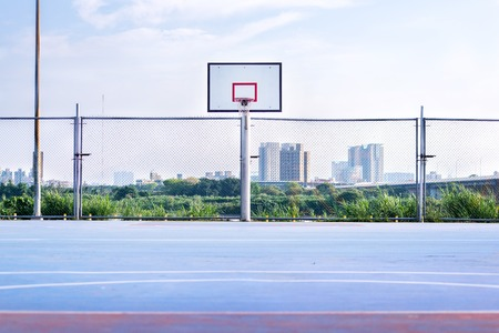 Basketball court in park in new taipei city Stock Photo