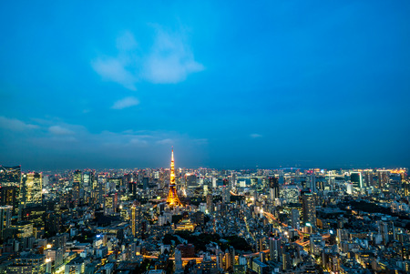 Tokyo Tower, Japan - communication and observation tower. Stock Photo