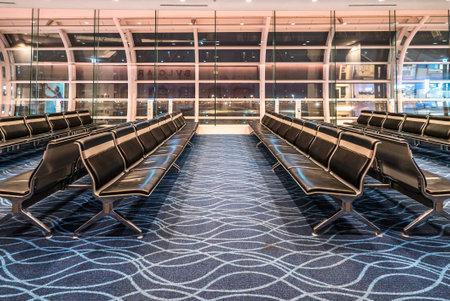 Waiting lobby at Haneda airport, Tokyo, Japan