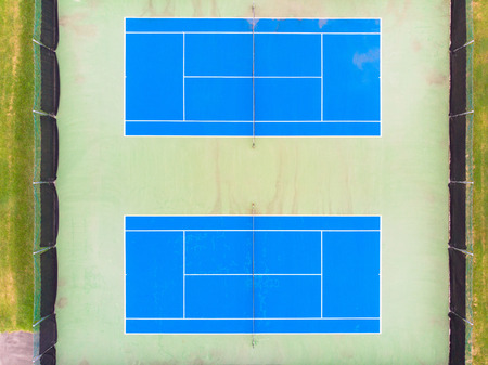 Aerial shot of a tennis courts.