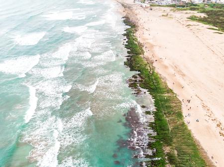 Laomei Green Reef Aerial View - Taiwan North Coast seasonal features Фото со стока