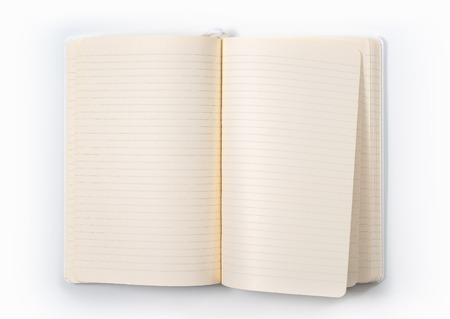 white notebook on white background