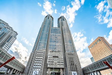 TOKYO, JAPAN - November 23, 2018: Metropolitan Government Building of Tokyo, Japan which houses the Tokyo Metropolitan Government. Editorial