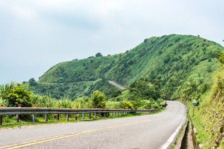 Scenic route at Buyen Pavilion in Taiwan. Stock Photo