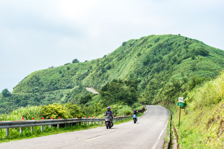 Scenic route at Buyen Pavilion in Taiwan.