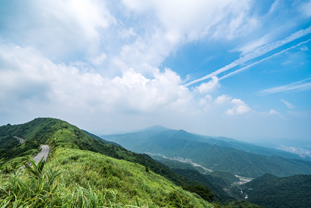 Scenic route at Buyen Pavilion in Taiwan. 免版税图像