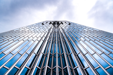 Architecture details Modern Building Glass facade Business background Stock Photo - 124660735