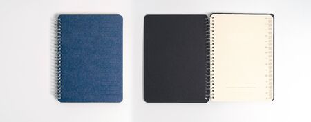 blue cover of the daily planner on white background Standard-Bild