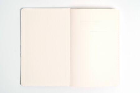 white notebook on white background Stockfoto