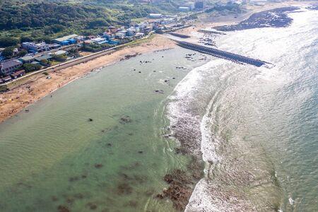 Repulse Bay[Qian Shui Wan] Aerial View - Taiwan North Coast , shot in Sanzhi District, New Taipei, Taiwan