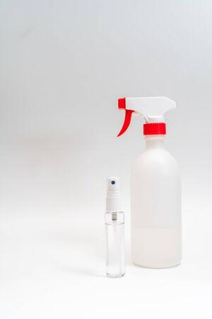 sanitizer gel dispenser on white background Stock Photo