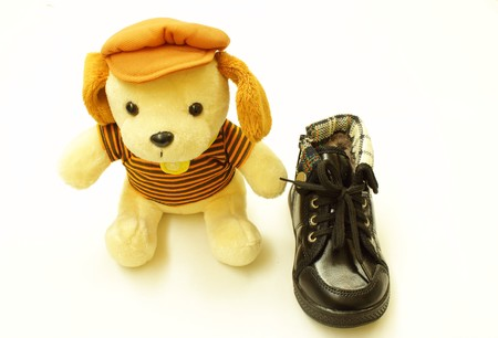 Kid chaussure et jouets