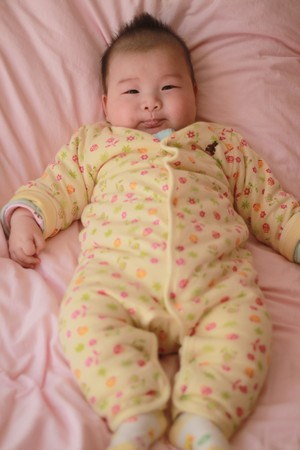 baby in bed Stock Photo - 7251499