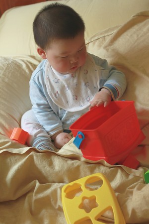 kid playing toys Stock Photo - 7234544