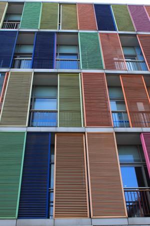 Shutter window of a modern buidling photo