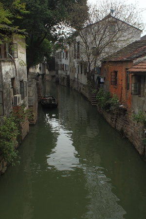 village by river suzhou Stock Photo