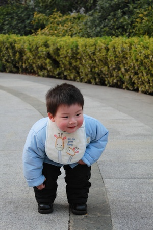 lovely chinese boy Stock Photo