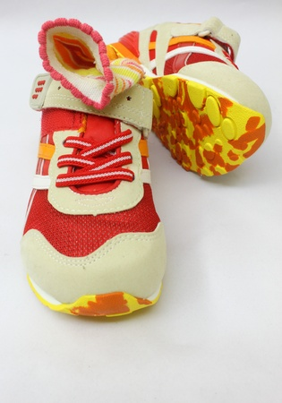 colourful sports shoes
