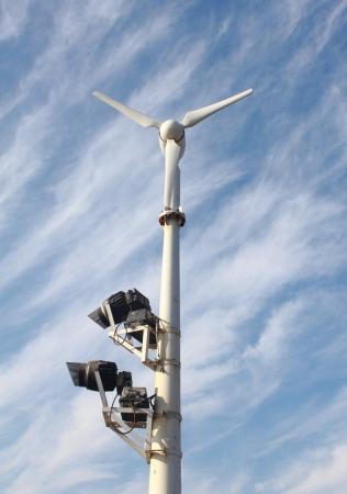 electricity generator: wind electricity generator Stock Photo