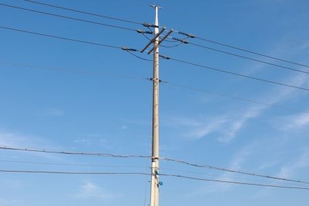 pylons background in the sky Stock Photo - 14071607