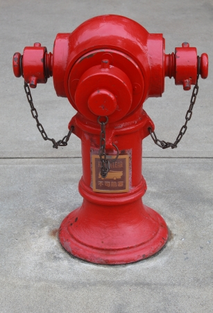 fire hydrant in hongkong Stock Photo