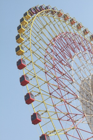 Closeup of ferris wheel