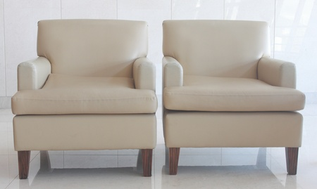 A pair of couch Stock Photo
