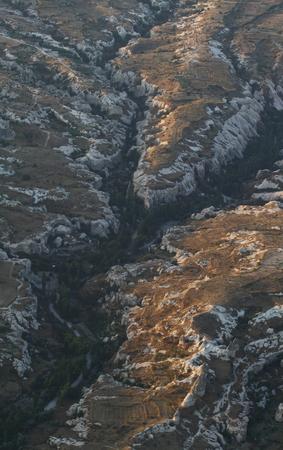 Aerial view of cappadocia mountain