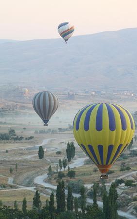 Closeup of hot air balloon