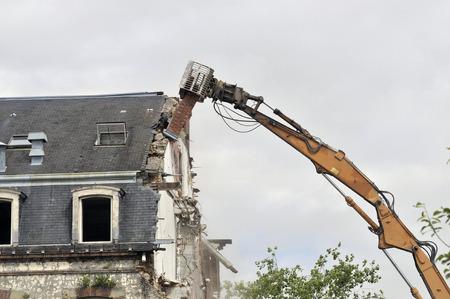 demolition site of a building Stockfoto - 119510856