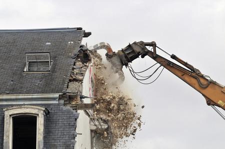 demolition site of a building Stockfoto - 119510859