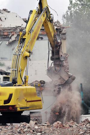 demolition site of a building Stockfoto - 119510858