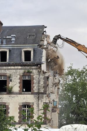 demolition site of a building Stockfoto - 119510966
