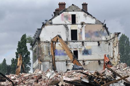 demolition site of a building Stockfoto - 121560866