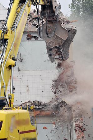 demolition site of a building Stockfoto - 121560868