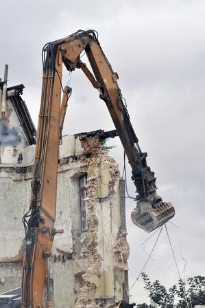 demolition site of a building Stockfoto - 121560869