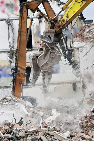 demolition site of a building Stockfoto - 121560871