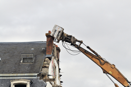 demolition site of a building Stockfoto - 121560875