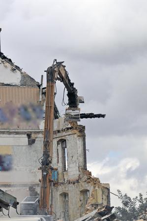 building demolition site Stockfoto - 121560872